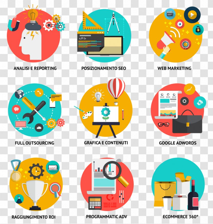digital marketing flat design vector graphics web transparent png pnghut