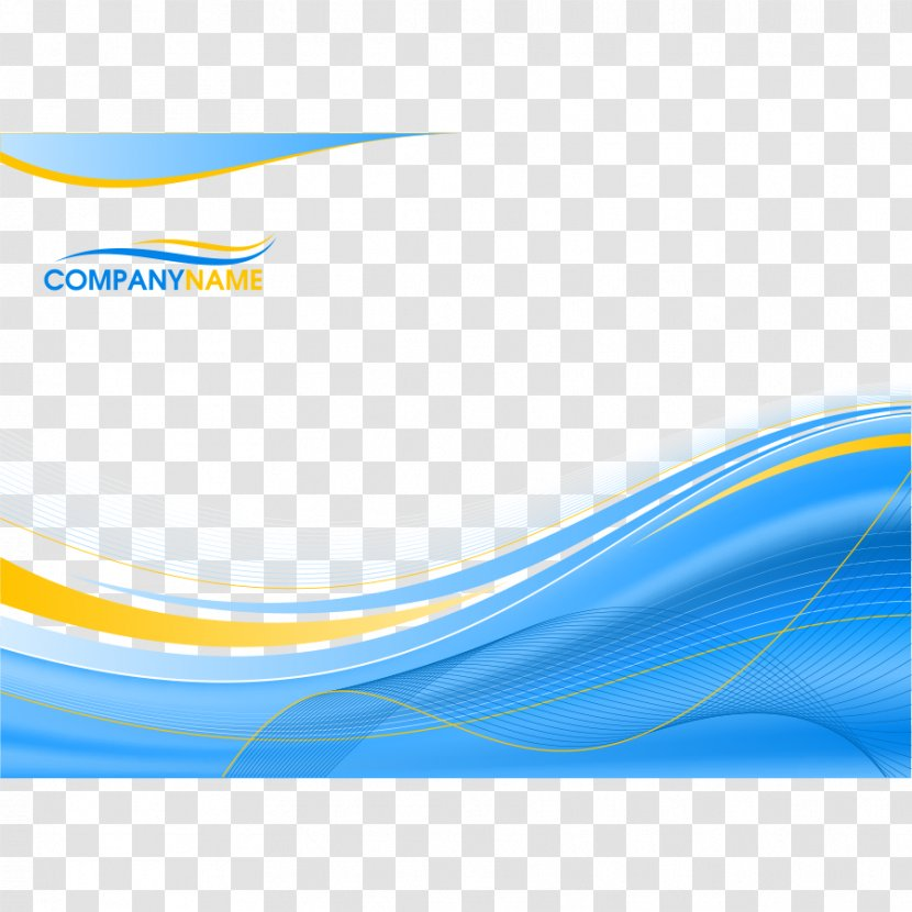 Blue Background With Wavy Lines - Rectangle - Resource Transparent PNG