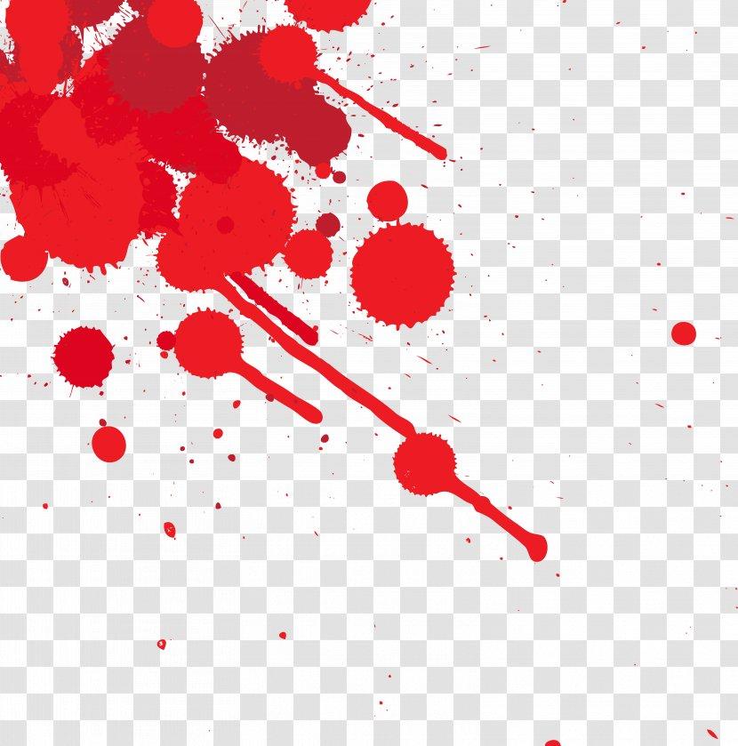 Blood Splatter Film Clip Art - Red - Dots Splashed With Transparent PNG