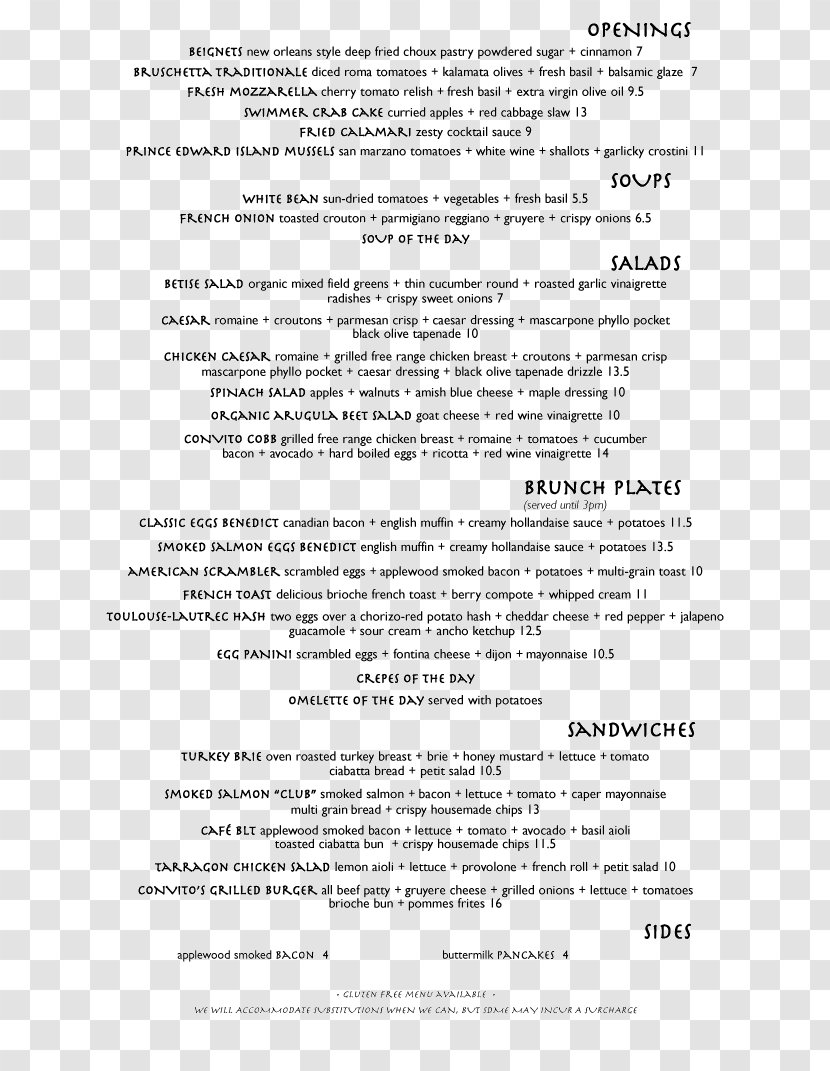 Menu Of Services Template from img1.pnghut.com