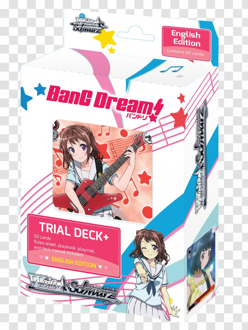 Weiß Schwarz BanG Dream! Girls Band Party! Collectible Card Game Playing - Bang Dream Transparent PNG