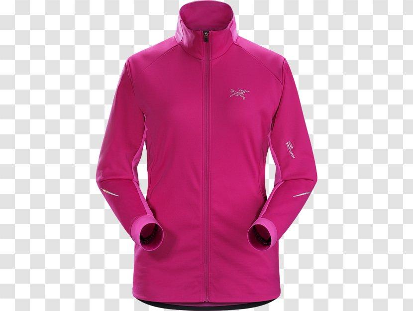 Jacket Hoodie Arc'teryx Windstopper Clothing - Sweatshirt - Woman Wine Transparent PNG
