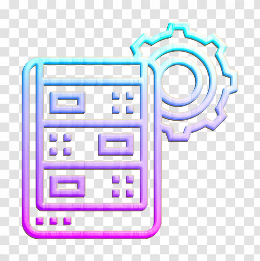 Server Icon Data Management Icon Transparent PNG