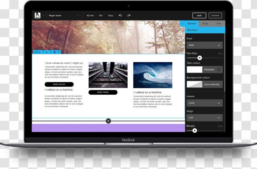 Website Builder Responsive Web Design Drag And Drop Template Easy To Edit Transparent Png