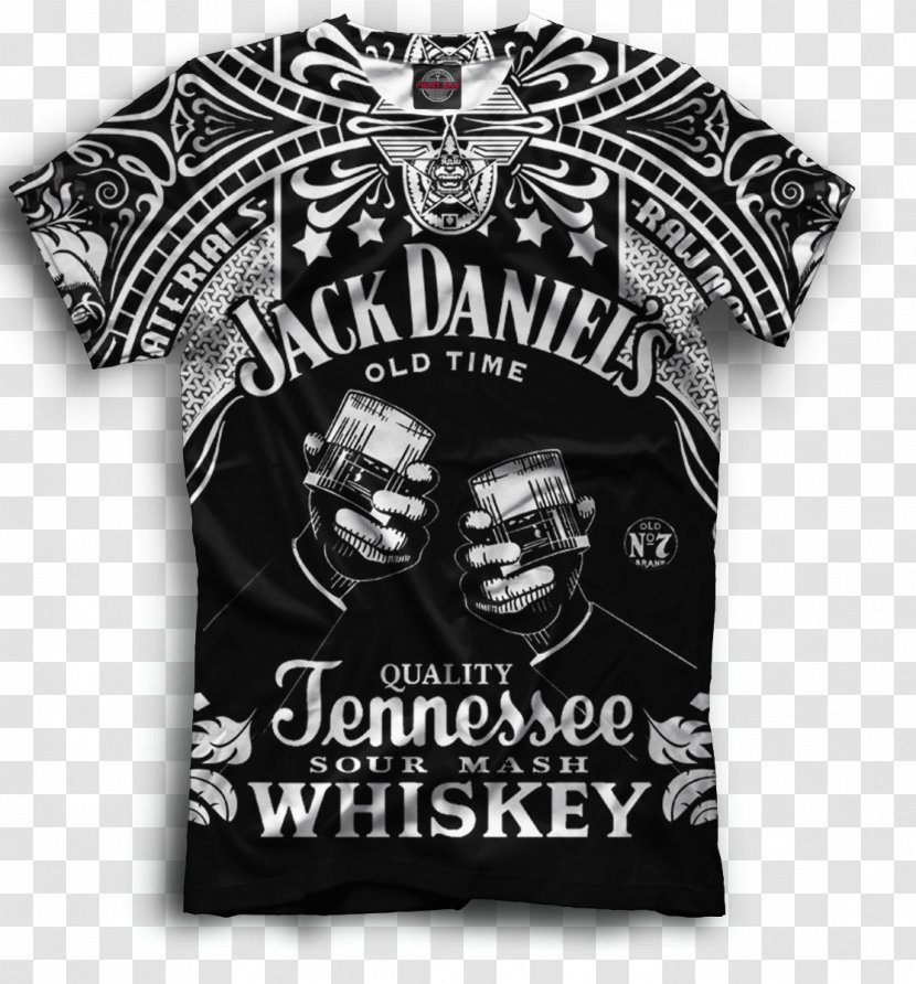 Jack Daniel S Tennessee Whiskey T Shirt Logo Black And White Transparent Png