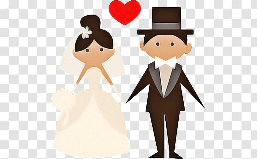 Bride And Groom Cartoon - Tuxedo - Suit Gentleman Transparent PNG
