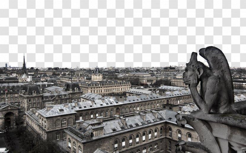 Notre Dame De Paris Eiffel Tower Gargoyle Wallpaper Highdefinition Television Paris France Notre Dame Twenty Transparent