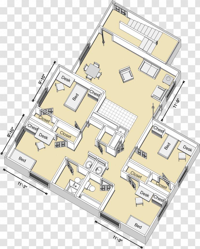 Bedroom Living Room Dormitory Floor Plan Furniture Transparent Png