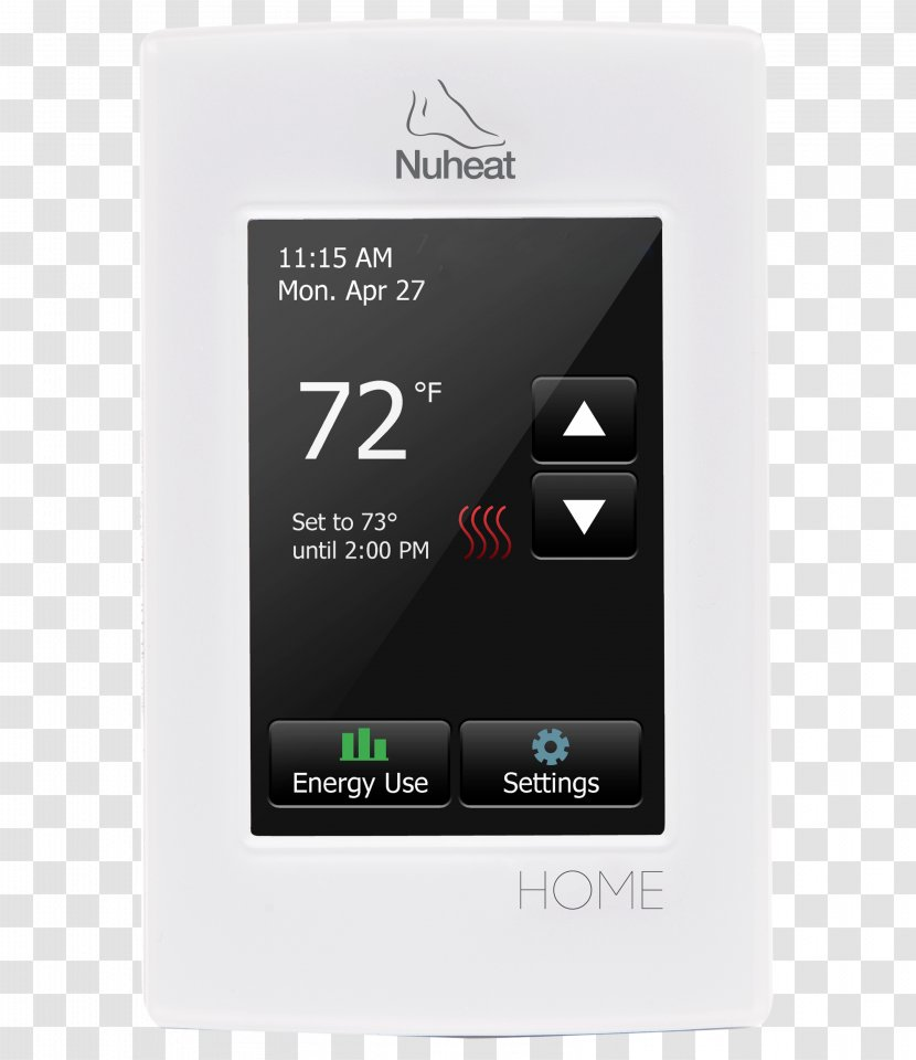 Programmable Thermostat Nuheat HOME Underfloor Heating - System - Radiant Transparent PNG