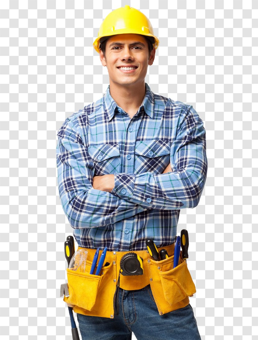 Construction Worker Laborer Getting A Job In The Industry - Electric Blue - Working Service Technician Transparent PNG