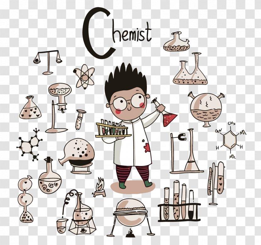 chemistry science scientist illustration product vector little transparent png vector little transparent png