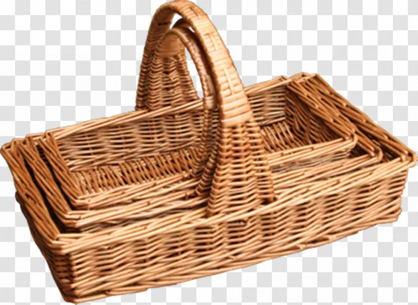 Wicker picnic basket or hamper full with foodstuff