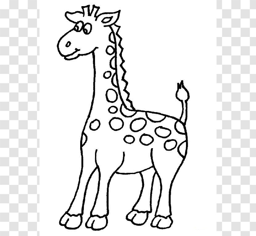 West African Giraffe Coloring Book Drawing Adult - Cliparts Transparent PNG