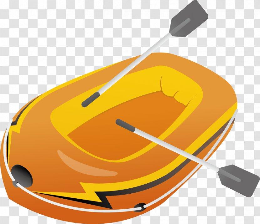 Canoe Watercraft Rowing - Orange - Vector Material Transparent PNG