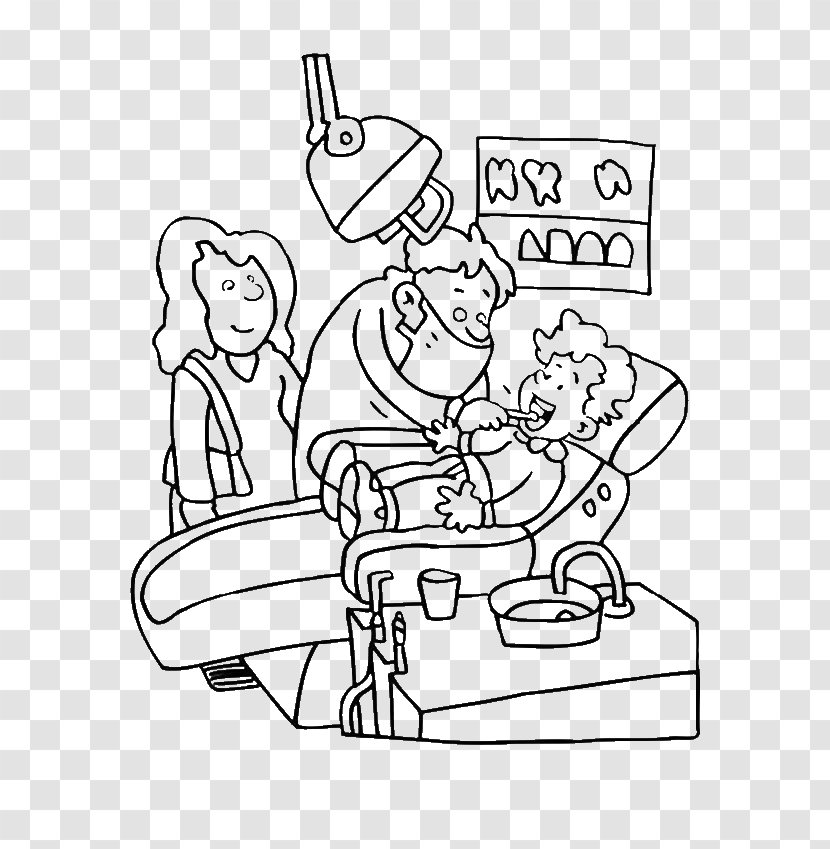 - Dental Public Health Coloring Book Dentistry Human Tooth - Cartoon  Transparent PNG