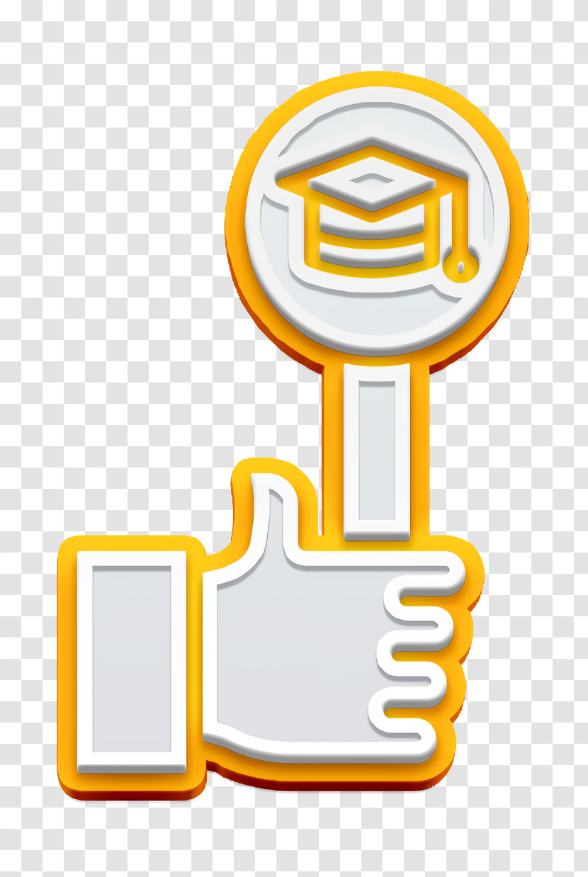 Like Icon Hands And Gestures Icon School Icon Transparent PNG