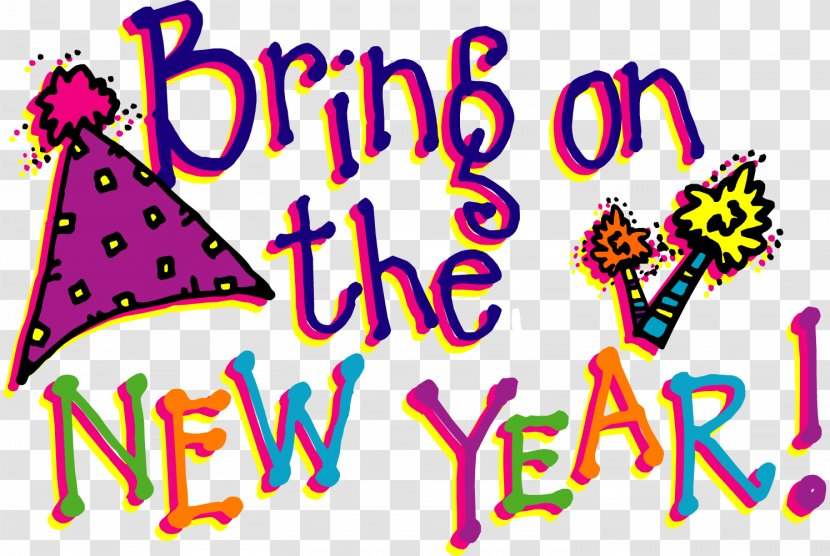 New Years Day Wish Eve Clip Art Text Cliparts Transparent Png