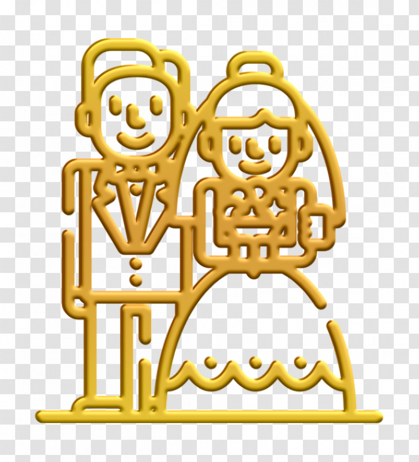 Bride Icon Wedding Icon Bride And Groom Icon Transparent PNG