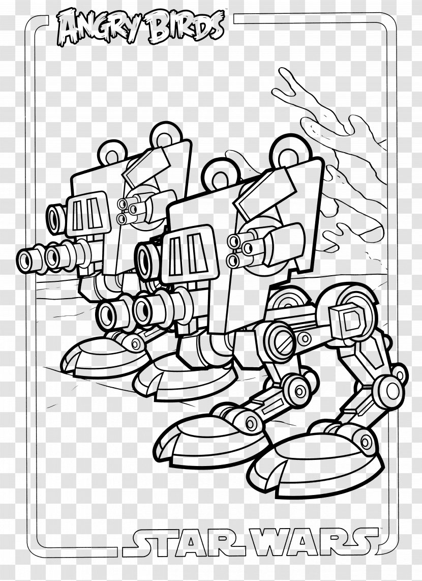 Angry Birds Star Wars Ii Coloring Book Hand Finger Transparent Png