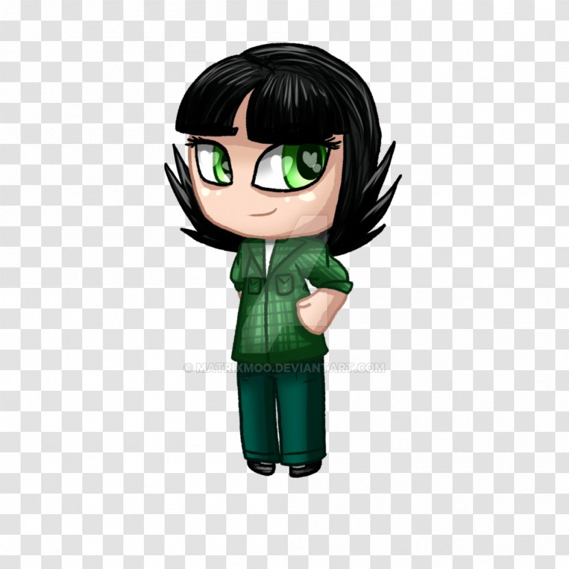 Green Black Hair Figurine Character Buttercup Transparent Png