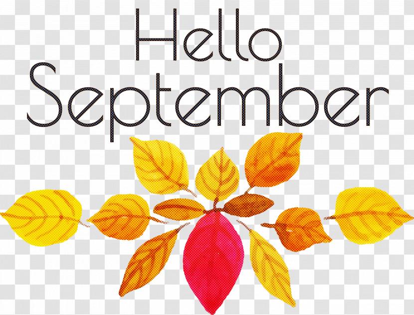 Hello September September Transparent PNG