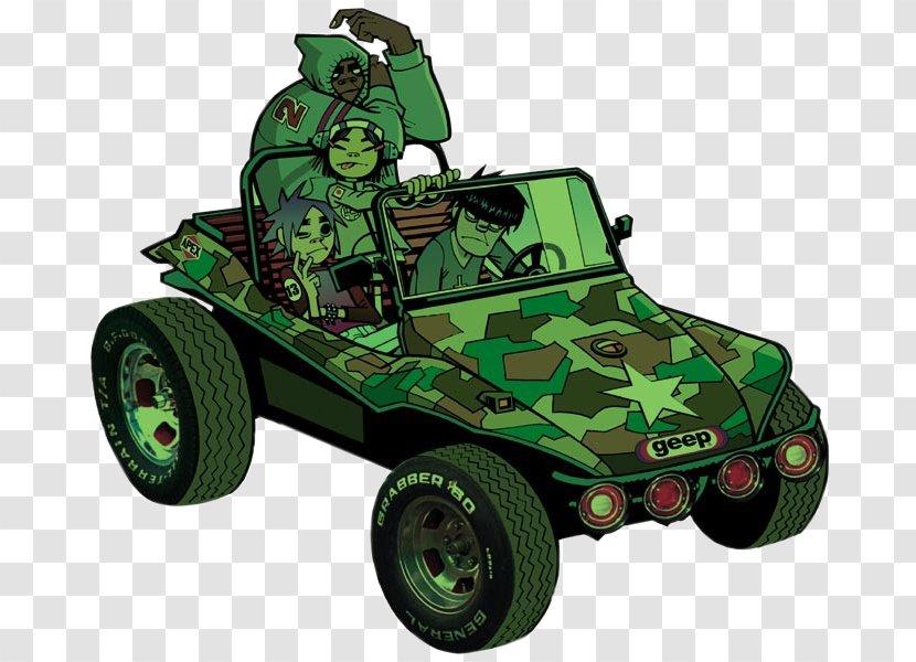 Gorillaz 2 D 19 2000 Noodle Song Vehicle Dune Buggy Transparent Png
