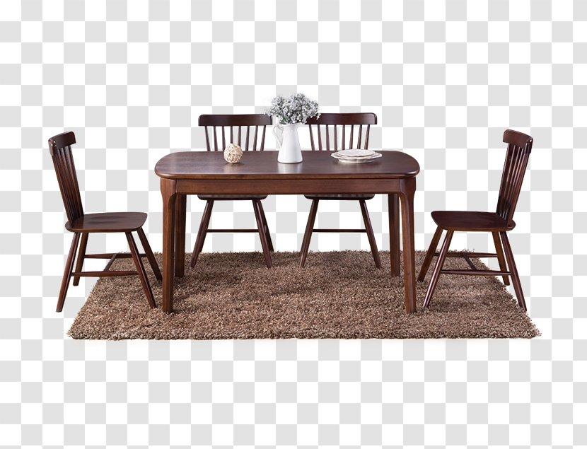 Table Furniture Chair Wood - Matbord - Dark Dinette Transparent PNG