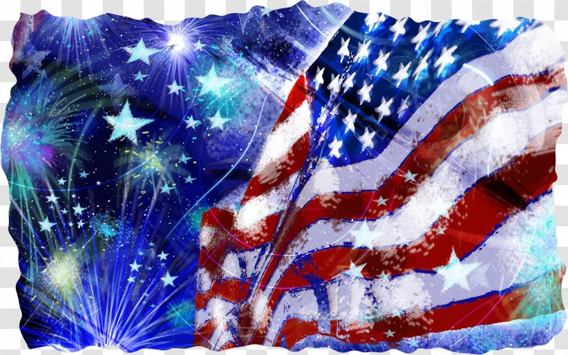 4th Of July Fireworks - Happy Fourth - Veterans Day Electric Blue Transparent PNG