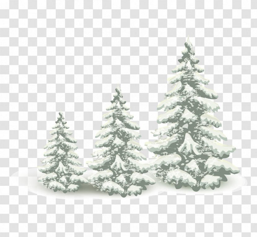 Falling Snow Pine Tree - Family Transparent PNG