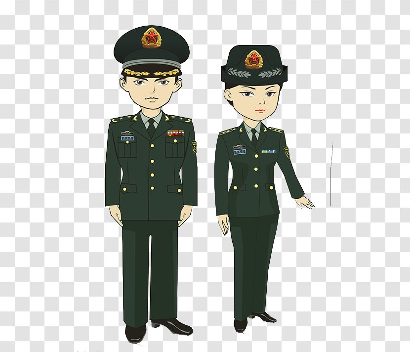 Cartoon Police Officer Army - Station Transparent PNG