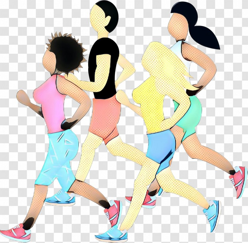 Clip Art Cartoon Running Exercise Lunge Sports Physical Fitness Transparent Png