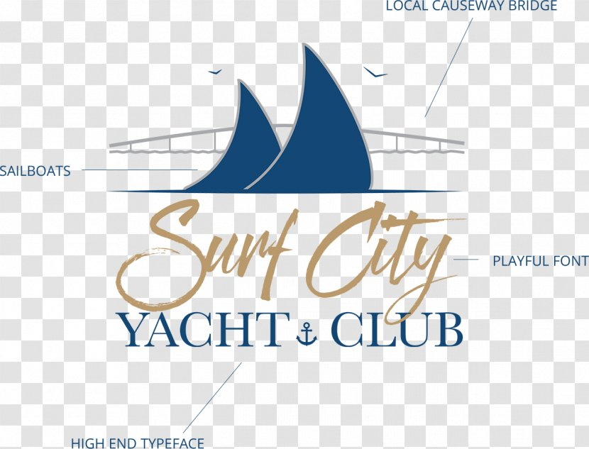Surf City Yacht Club Long Beach Township Logo Regatta Sailing Transparent Png
