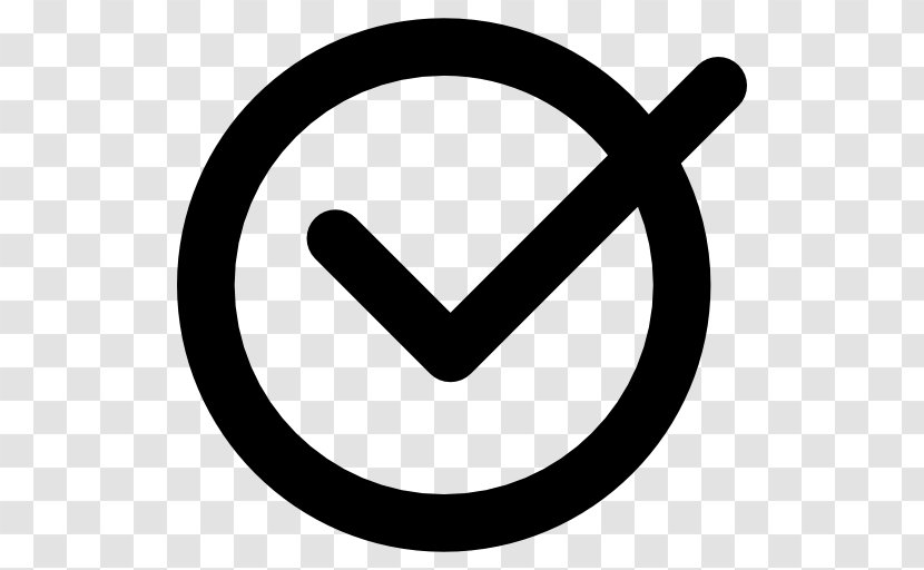 Check Mark Download Clip Art - Black And White Transparent PNG