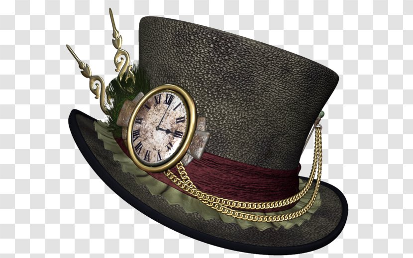 The Mad Hatter Steampunk Clip Art Headgear Hats With Foreign Table Transparent Png