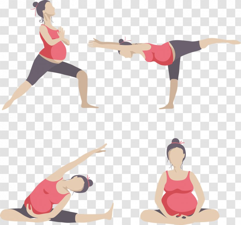 Yoga Pregnancy Physical Exercise Woman Silhouette Vector Pregnant Mother Transparent Png