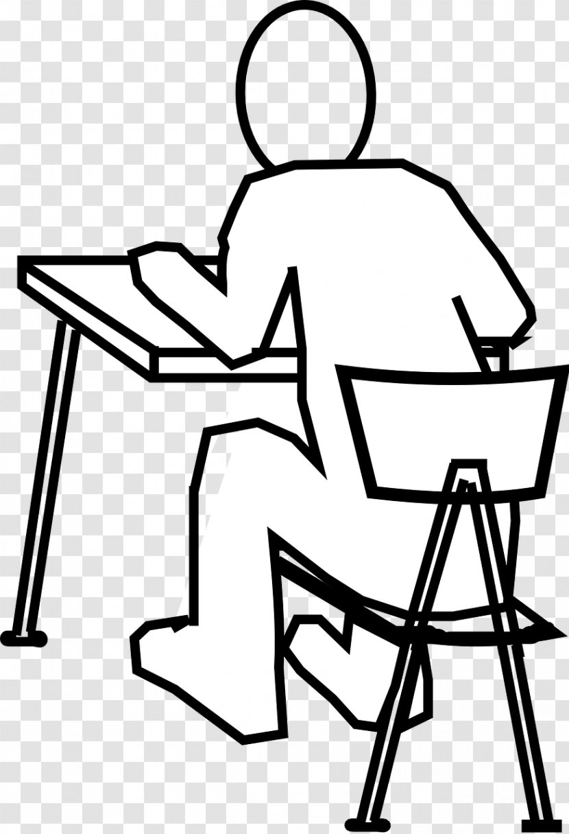 Office & Desk Chairs Drawing Sitting Standing - Monochrome Photography - Black And White Transparent PNG