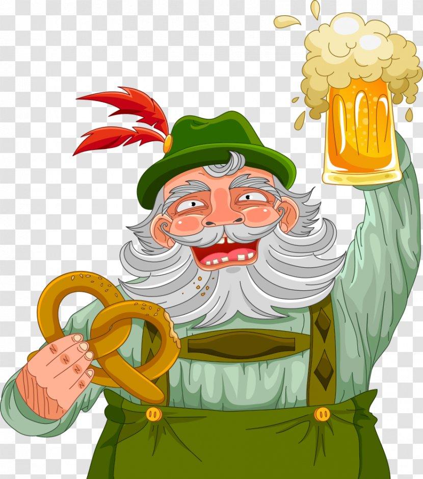 Oktoberfest Beer German Cuisine Cartoon Royaltyfree Creative Transparent Png