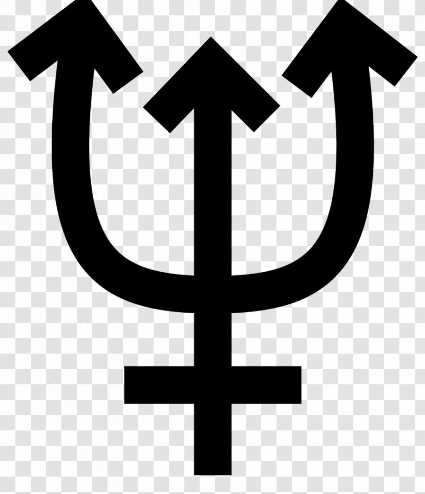 Neptune Astronomical Symbols Planet Astrological Symbol Transparent Png