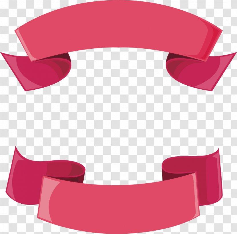 Pink Ribbon Header Box Transparent PNG