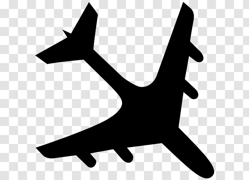 Airplane Flight Airbus A380 Aircraft Silhouette Black Plane Transparent Png