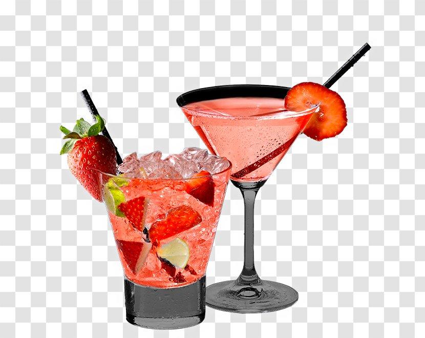 Cocktail Garnish Bay Breeze Drink Daiquiri Strawberry Juice Mojito Transparent Png