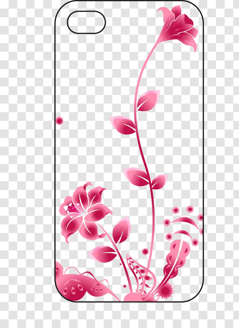 Adobe Illustrator Clip Art Software Cartoon Painted Flower Phone Case Transparent Png