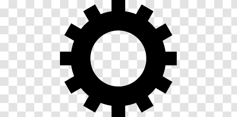 Gear - Black And White Transparent PNG