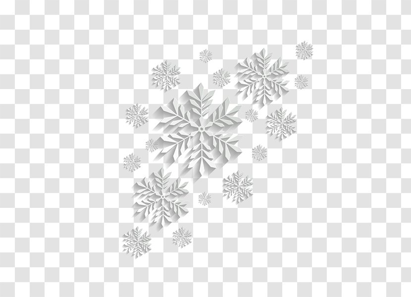 Snowflake Download - White Material Transparent PNG