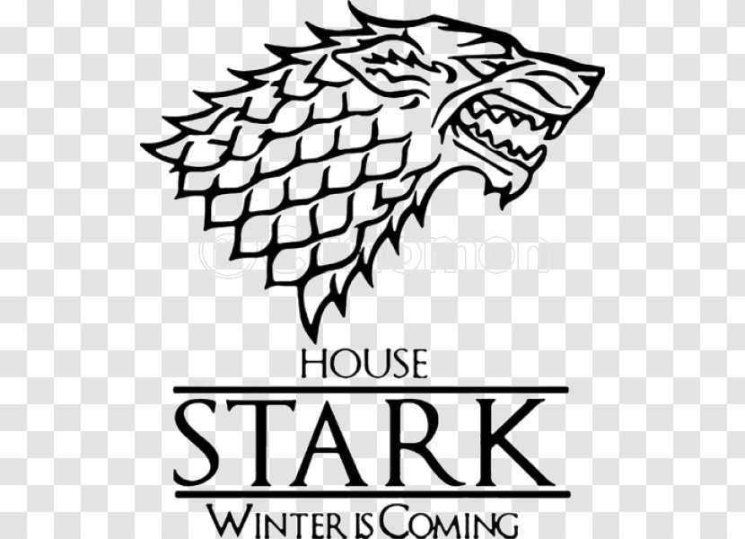 A Game Of Thrones Daenerys Targaryen House Stark Winter Is Coming Raven Transparent Png