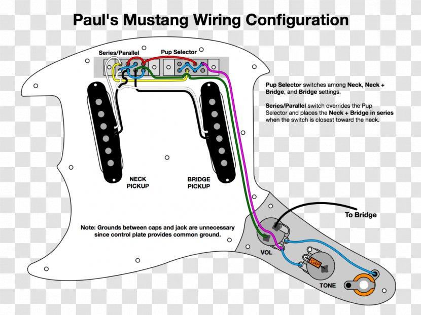 Fender Mustang Wiring Diagram Jag-Stang Pickup - Guitar Transparent PNGPNGHUT