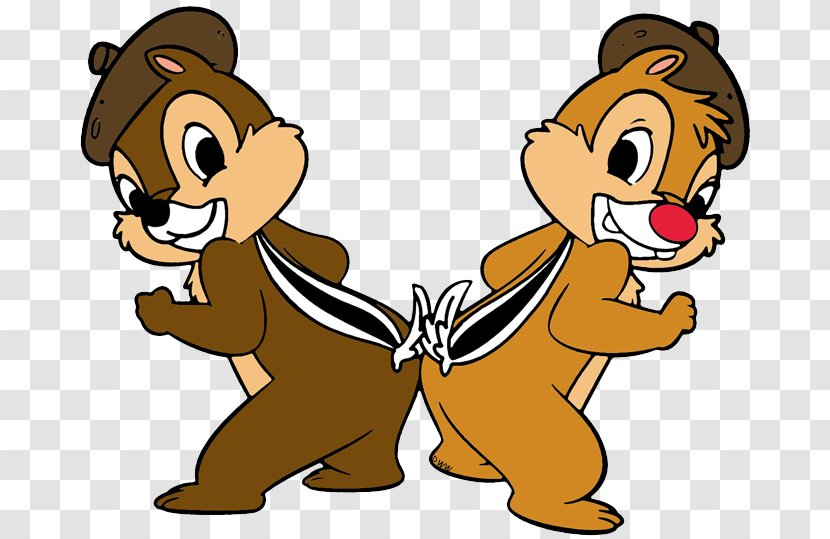 Chip N Dale Goofy Mickey Mouse Donald Duck Chipmunk Colored Background Transparent Png