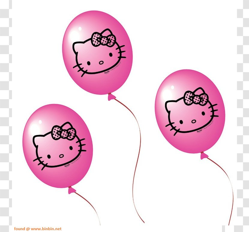 Party Clipart Hello Kitty - Hello Kitty Pink Png , Free Transparent Clipart  - ClipartKey
