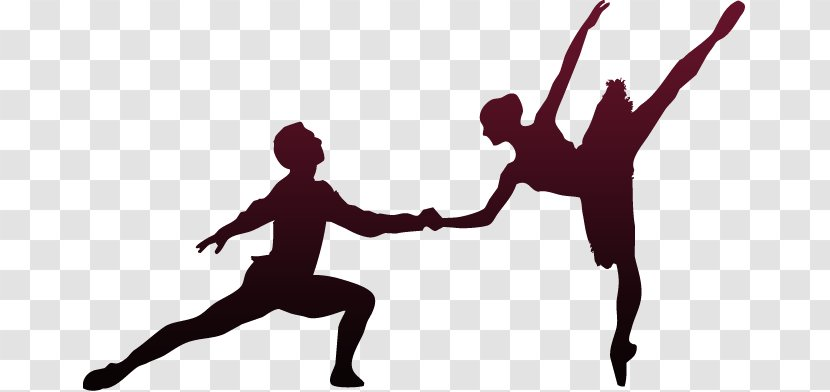 Ballet Dancer Silhouette Jumping Transparent Png