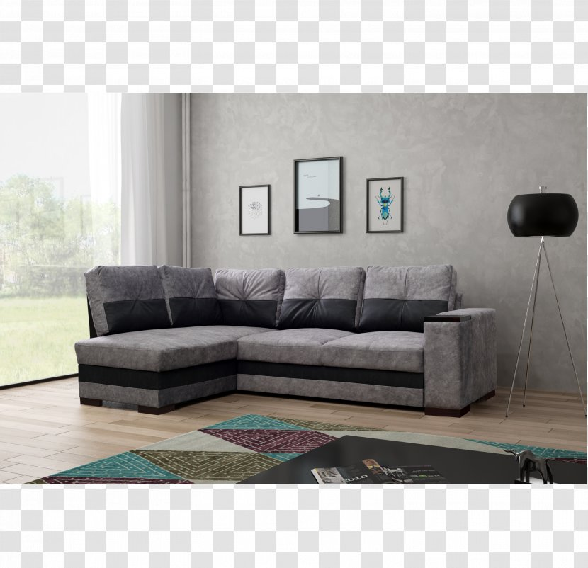 Couch Furniture Poland Particle Board Woven Fabric Grau Transparent Png